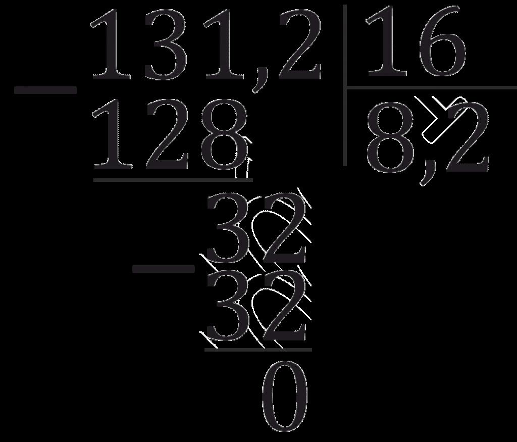 деление десятичных уголком