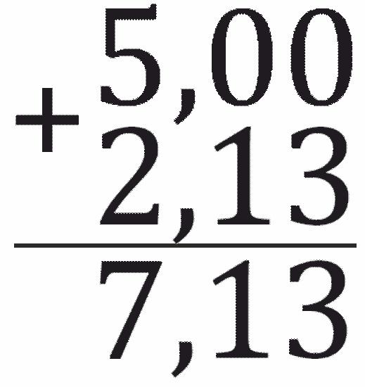 сложение десятичных